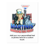 Postcard - Martinis Should be Tax Free