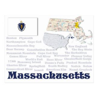 "Postcard ""Massachusetts"""