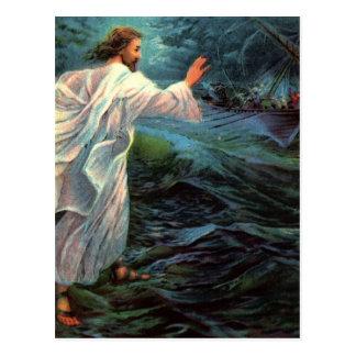 Postcard: Matthew 14:29-30 Postcard