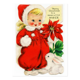 "Postcard ""Merry Christmas to a ""Dear Little Neice"""
