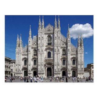 Postcard Milan Cathedral, Piazza Duomo, Italy Tarjeta Postal