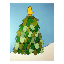 Postcard Mitten Tree