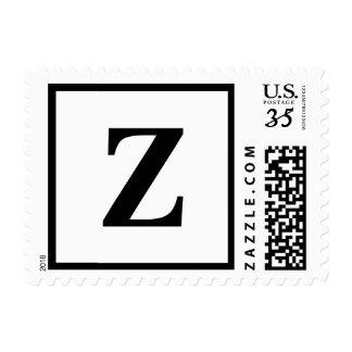 Postcard Monogram Letter Z Postage