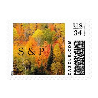 Postcard Monogram Theme Wedding Autumn Weddings In Stamps