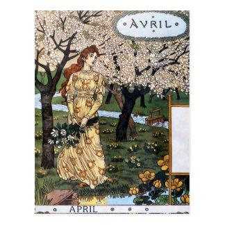 Postcard: Month of Aril - Avril Postcard