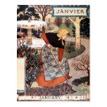 Postcard: Month of January - Janvier