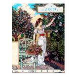 Postcard: Month of  June - Juin