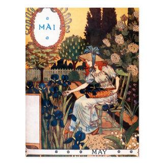 Postcard: Month of May - Mai Postcard