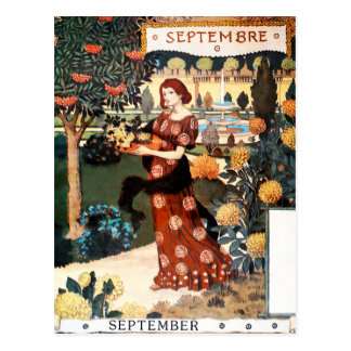 Postcard Month of September - Septembre