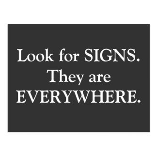 Postcard Motivation - Signs are Everywhere