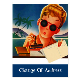 Postcard Moved New Change of Address Notification