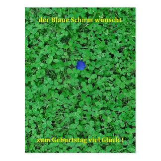 Postcard - much luck