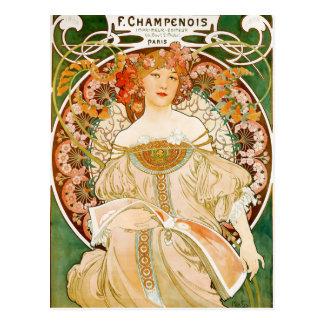 Postcard: Mucha - Champenois Postcard