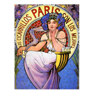 Postcard:  Mucha Illustration Postcard