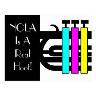 Postcard Music Vacation Jazz Trumpet NOLA Hoot PC