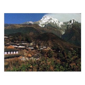 Postcard Nepal Annapurna - Gandrung