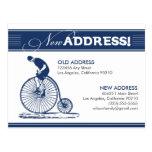 POSTCARD: New Address! Antique Bicycle (navy)