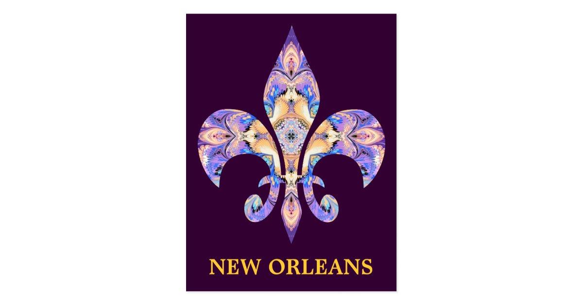 Postcard New Orleans Fleur De Lis Zazzle Com