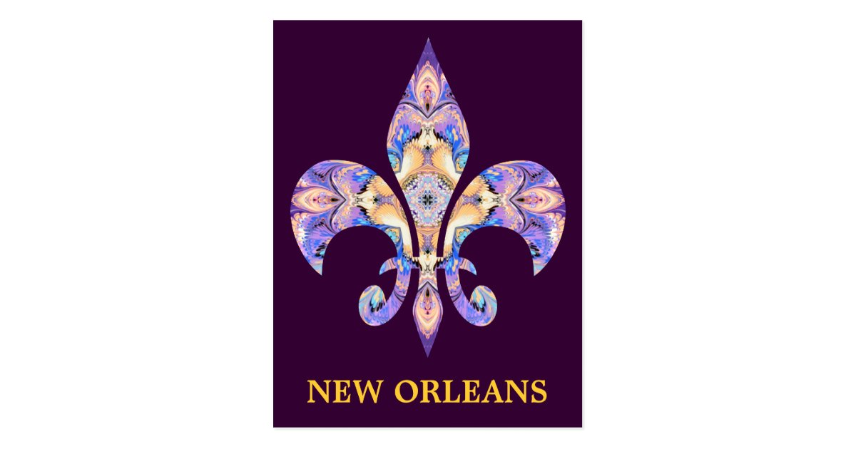 Postcard New Orleans Fleur-de-lis | Zazzle.com