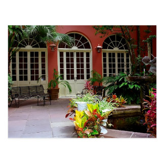 Postcard New Orleans, French Quarter Courtyard the