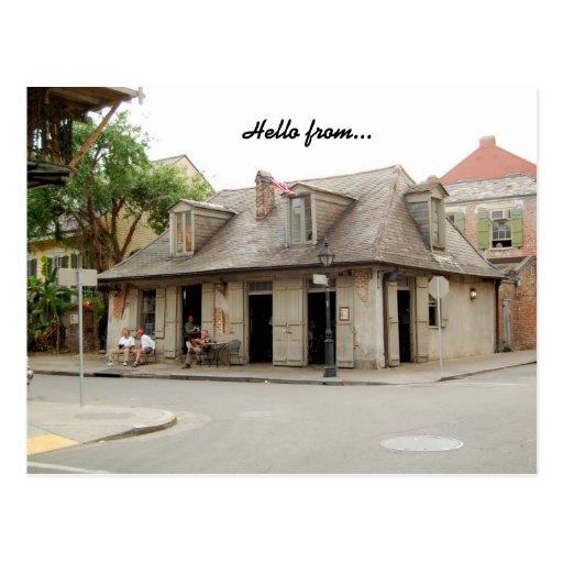 Postcard New Orleans Louisiana Lafitte's Bar