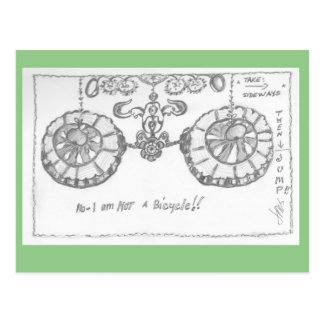 """Postcard - """"Not a bicycle"""""""