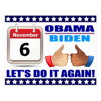 Postcard Obama Biden - Calendar -Do It Again