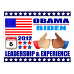 Postcard: Obama/Biden - Calendar -Leadership