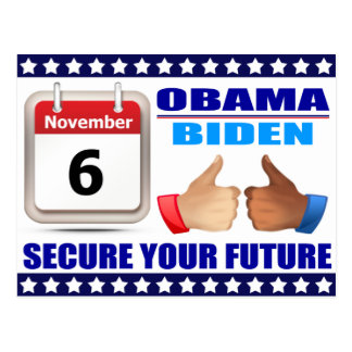 Postcard Obama Biden - Calendar -Secure Future