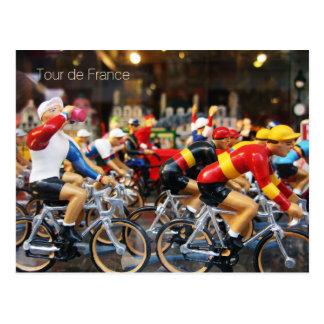 Postcard of a window depicting Tour de France