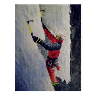 Postcard of an ice climber