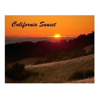 Postcard of beautiful California sunset