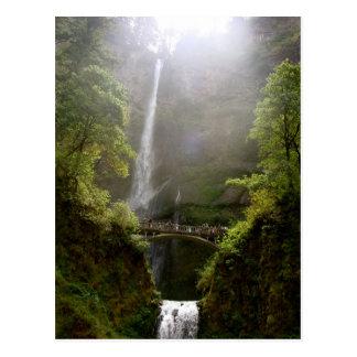 Postcard of Multnomah Falls, Oregon, Waterfall