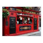 Postcard of red Temple Bar pub in Dublin