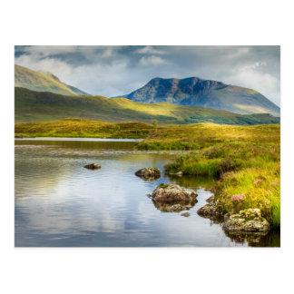 Postcard of Scottish Highlands landscape