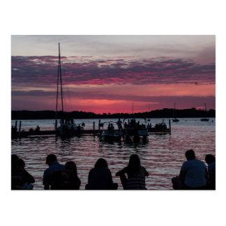 Postcard of summer silhouettes over Lake Mendota