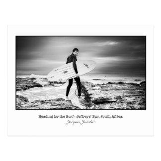 Postcard of Surfer a Jeffry's Bay