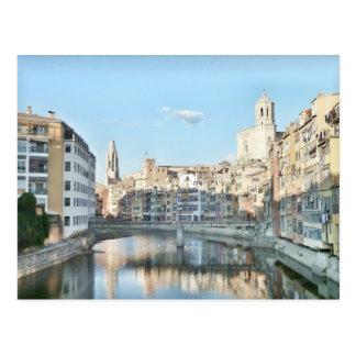 Postcard of the city of Girona.