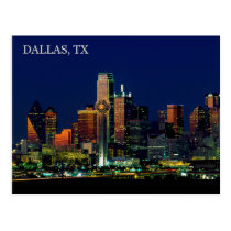 Postcard of the Dallas, Texas skyline