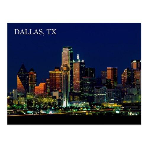 Postcard of the Dallas Texas skyline