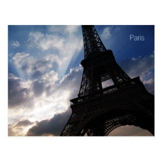 Postcard of the Eiffel Tower, Paris, France