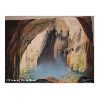 Postcard Oil Painting Sinoia Caves