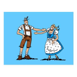 Postcard Oktoberfest Couple Love