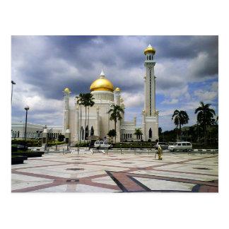 Postcard Omar Ali Saifuddin Mosque in Brunei
