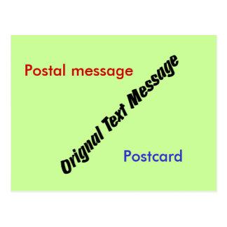 Postcard - Original Text Message