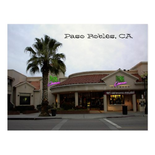 Postcard, Park-Cinemas, Paso Robles, CA Postcard