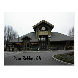 Postcard: Paso Robles Train Station in Winter