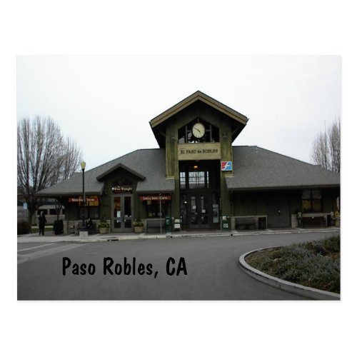 Postcard: Paso Robles Train Station in Winter Postcard