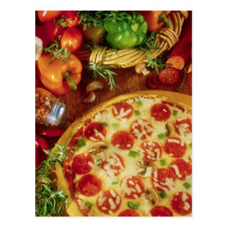 POSTCARD PEPPERONI PIZZA