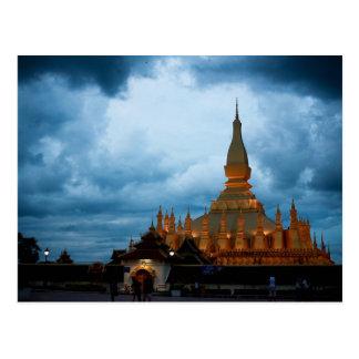 Postcard Pha That Luang, Vientiane, Laos